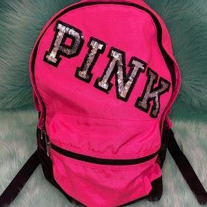Victoria's Secret VS PINK Sequin Backpack Book Bag